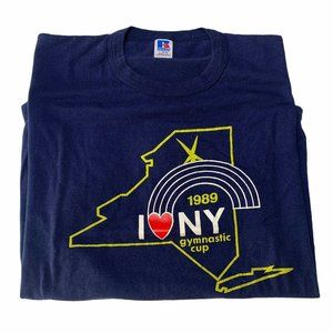 Vintage 1989 New York State Gymnastic Cup T-Shirt